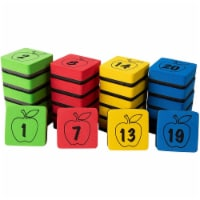 Numbered Whiteboard Erasers, Magnetic Eraser for Whiteboard (2 x 2 In, 24 Pack) - PACK