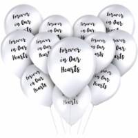 Memorial Balloons, Forever In Our Hearts (12 in., 30 Pack) - PACK