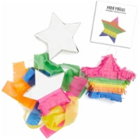 Small Rainbow Star DIY Pinata Craft Kit for Kids Birthday Party (5 in, 3 Pack) - PACK