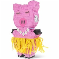 Small Pig Pinata for Tropical Hawaiian Birthday Party (16.5 x 10 x 3 In) - PACK