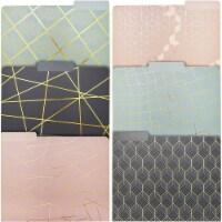 Geometric Decorative File Folders with 1/3 Cut Tab (11.5 x 9.5 In, 12 Pack) - PACK