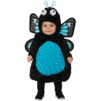 Underwraps UR27561LG Girls Blue Butterfly Toddler Costume - Large - 1