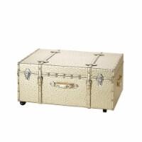 Texture® Brand Trunk - Golden Ostrich - 1 Trunk