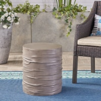 Aubree Outdoor 16-inch Light-Weight Concrete Side Table - 1 unit