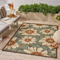 Orval Outdoor Floral Area Rug - 1 unit
