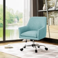 Morgan Mid Century Modern Fabric Home Office Chair with Chrome Base