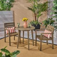 Kuhn Outdoor 3 Piece Acacia Wood Bistro Set