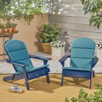 Ocean Outdoor Acacia Wood Adirondack Chairs with Cushions (Set of 2) - 1 unit