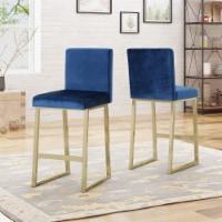 Lexi Modern Velvet Barstools (Set of 2) - 1 unit
