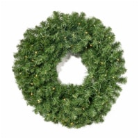 Alia Christmas Wreath  24-inch  Noble Fir  Battery-Operated, Includes Timer  Warm White LED