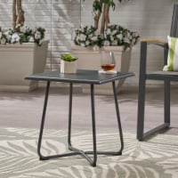 """Terry Outdoor Modern 18"""" Side Table with Steel Legs - 1 unit"""