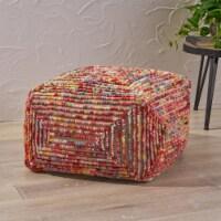 Cindy Boho Cube Wool Pouf