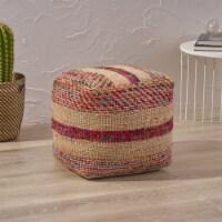 Deborah Boho Hemp Silk and Cotton Ottoman Pouf - 1 unit