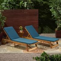 Belinda Outdoor Fabric Chaise Lounge Cushion  (Set of 2) - 1 unit