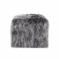 Ingrid Peep Glam Lamb Wool Square Pouf with Filling - 1 unit