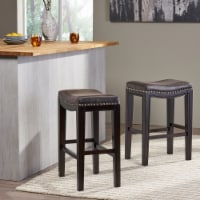 Aimee Contemporary Studded Fabric Counter Stool (Set of 2) - 1 unit