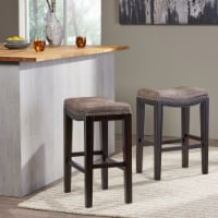 Aimee Contemporary Studded Fabric Counter Stool (Set of 2)