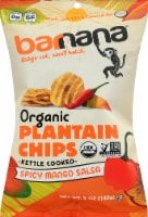 Barnana Organic Ridged Spicy Mango Salsa Plantain Chips