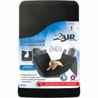 2Air Odor Eliminating Pet Hammock Seat Cover - Black - 1 ct
