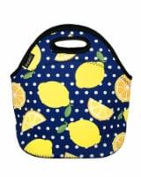 Wrapables Insulated Neoprene Lunch Bag, Lemons - 1