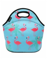 Wrapables Insulated Neoprene Lunch Bag, Flamingoes - 1