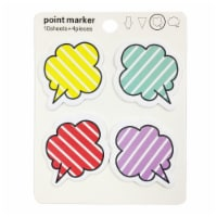 Wrapables Striped Thought Cloud Sticky Notes - 1
