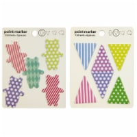 Wrapables Sticky Notes, Set of 2 (Dancing Bears,Groovy Triangles) - 2 Sets