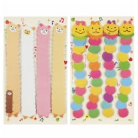 Wrapables Bookmark Flag Index Tab Sticky Notes, Set of 2, Caterpillar, Silly Sheep - 2 Sets