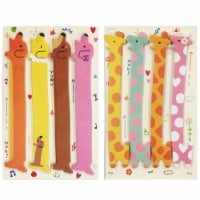 Wrapables Bookmark Flag Index Tab Sticky Notes, Set of 2, Hot Dog, Giraffe - 2 Sets