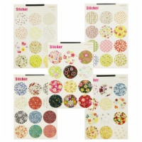 Wrapables Decorative Floral Pattern Sticker Set - 1