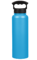 Fifty/Fifty Vacuum Insulated Stainless Steel Water Bottle & 3-Finger Grip Cap - Crater Blue