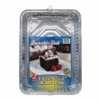 Home Plus 6391833 Durable Foil Cake Pan, Silver - 2 per Case, Pack of 12