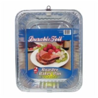 Home Plus 6391981 9.25 x 11.75 in. Durable Foil Roaster Pan - Silver- pack of 12 - 12