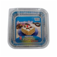 Home Plus 6392005 7.87 x 7.87 in. Durable Foil Cake Pan - Silver- pack of 12 - 12
