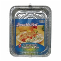 Home Plus 6392039 9.25 x 11.75 in. Durable Foil Casserole Lasagna Pan - Silver- pack of 12