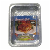 Home Plus 6392138 10.62 x 14.43 in. Durable Foil Lasagna Pan with Lid - Silver- pack of 12