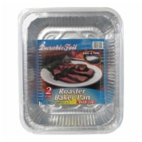Home Plus 6392146 9.25 x 11.75 in. Durable Foil Roaster Pan with Lid - Silver- pack of 12 - 12