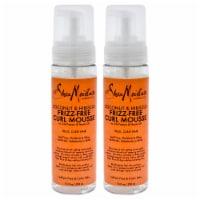 Shea Moisture Coconut & Hibiscus FrizzFree Curl Mousse  Pack of 2 7.5 oz - 7.5 oz