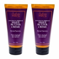 Shea Moisture Coconut & Hibiscus Shave Cream For Women  Pack of 2 6 oz