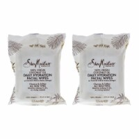 Shea Moisture 100 Percent Virgin Coconut Oil Daily Hydration Facial Wipes  Pack of 2 30 Pc - 30 Pc