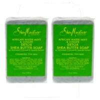 Shea Moisture African Water Mint & Ginger Detox Shea Butter Soap  Pack of 2 Bar Soap 8 oz