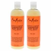 Shea Moisture Coconut & Hibiscus Shea Butter Wash Brightening & Toning  Pack of 2 Body Wash 1 - 13 oz