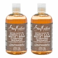 Shea Moisture Sacha Inchi Oil Omega369 Rescue & Repair Clarifying Shampoo  Pack of 2 13 oz - 13 oz