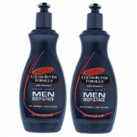 Palmers Cocoa Butter Men Body and Face Lotion  Pack of 2 Body Lotion 13.5 oz - 13.5 oz