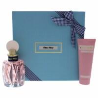Miu Miu Miu Miu LEau Rosee 3.4 oz EDT Spray, 2.5oz Hand Cream 2 Pc Gift Set