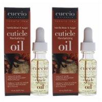 Cuccio Cuticle Revitalizing Oil  Vanilla Bean and Sugar Manicure  Pack of 2 0.5 oz - 0.5 oz