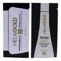 Helis Gold The Revival Series Kit 0.34oz Restructure Masque, 0.34oz Revitalize Shampoo 2 Pc - 2 Pc Kit