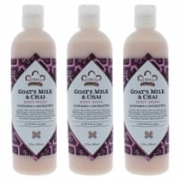 Nubian Heritage Goats Milk and Chai Body Wash  Pack of 3 13 oz - 13 oz