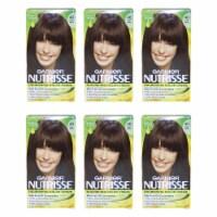Garnier Nutrisse Nourishing Color Creme  40 Dark Brown  Pack of 6 Hair Color 1 Application - 1 Application