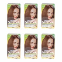Garnier Nutrisse Nourishing Color Creme  60 Light Natural Brown  Pack of 6 Hair Color 1 Appli - 1 Application